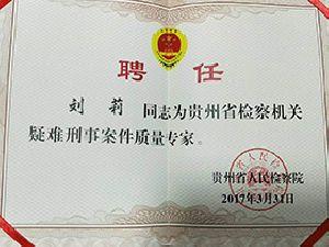 刘莉-刑事案件质量专家